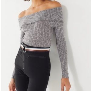 uo out from under foldover off the shoulder top